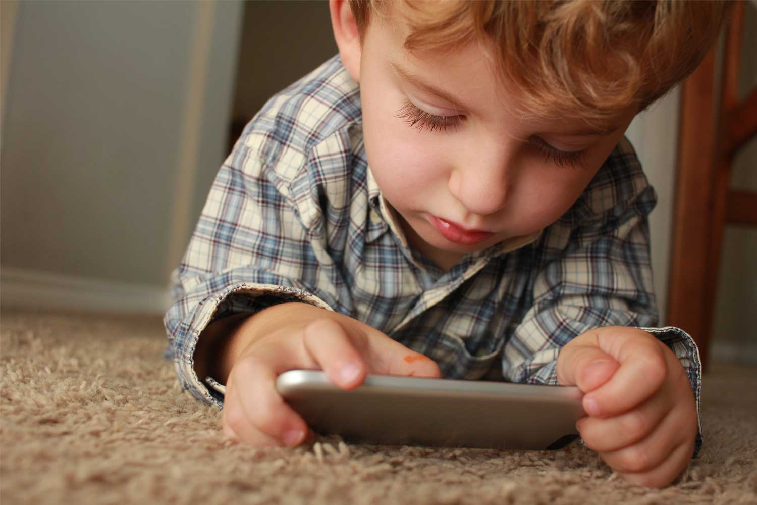 Child using apps