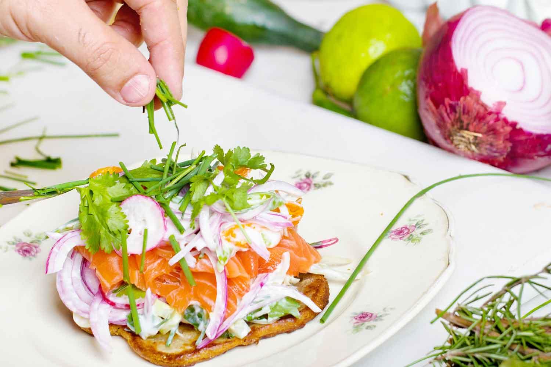 salmon-on-toast